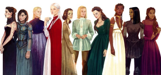 Females from Throne of Glass-- bookspoils